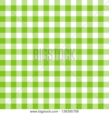 Seamless green and white tablecloth pattern. Vector illustration