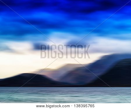 Horizontal Vivid Norway Motion Blur Landscape Abstraction Backgr