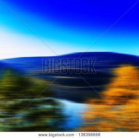 Square Vivid Vibrant Blur Motion Landscape Abstraction Backgroun