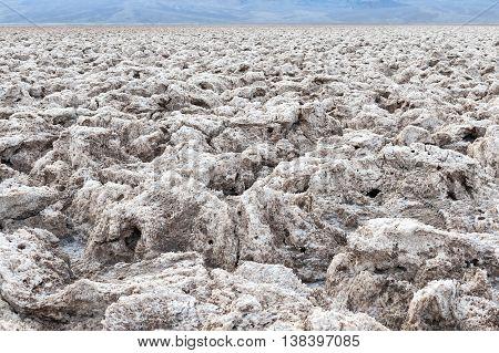 Devil's Golf Course Death Valley National Park USA