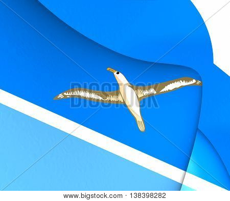3D Flag Of Midway Islands. 3D Illustration.