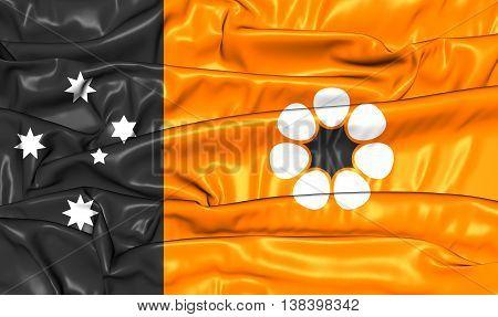 Flag Of Northern Territory, Australia. 3D Illustration.