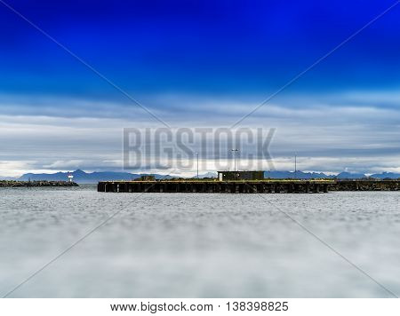 Horizontal Vivid Norway Toy Pier Quay Building Background Backdr