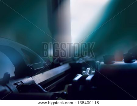 View from eyes of the gun shooter abstract background