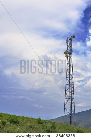 Mobile Phone Tower Silhouette