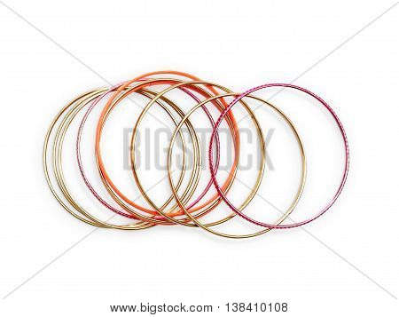 Bangles Isolated On White