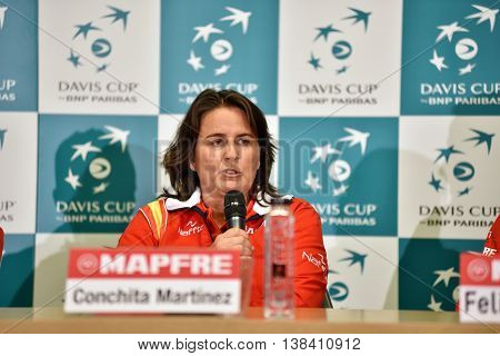 Spanish Tennis Captain During A Davis Cup Press Conference