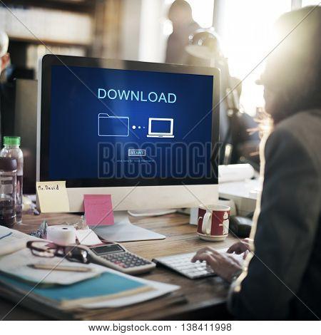 Download Data Files Information Internet Sharing Concept