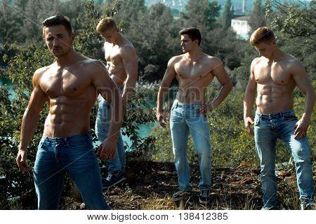 Four Sexy Muscular Men