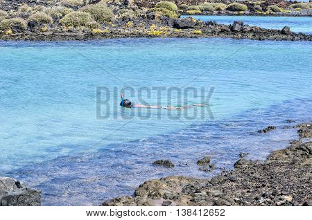 Snorkeling Woman Underwater Wearing Snorkel And Mask Having Fun On Beach Summer Holidays Vacation En