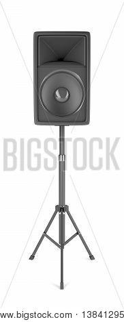 Speaker on stand on white background, 3D illustration