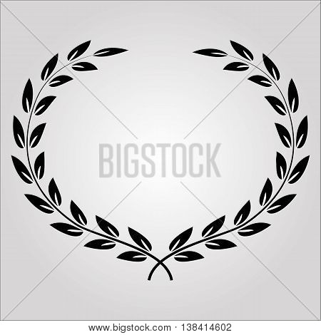 Laurel wreath icon. Laurel wreath logo. Laurel wreath symbol. Winner wreath isolated minimal design. Vector illustration