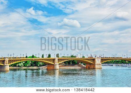 Margaret Bridge (sometimes Margit Bridge), Hungary, Connecting Buda And Pest Across The Danube. Day