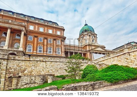Budapest Royal Castle At Day  Time. Hungary.