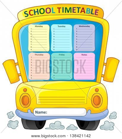 Weekly school timetable composition 4 - eps10 vector illustration.