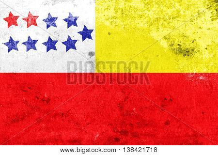 Flag Of Chone, Ecuador, With A Vintage And Old Look