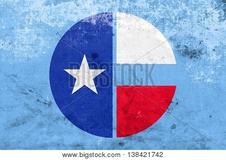 Flag Of Collin County, Texas, Usa, With A Vintage And Old Look