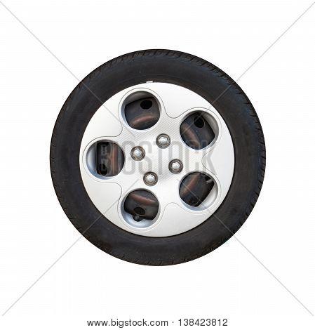 City Car Wheel, Light Alloy Disc Isolated