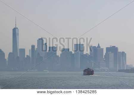 Lower Manhattan view, NEW YORK CITY, USA.