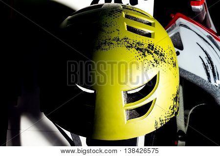 Yellow Bike Helmet.