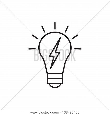 Vector lightbulb icon. Universal lightbulb icon to use in web and mobile UI energy basic UI element