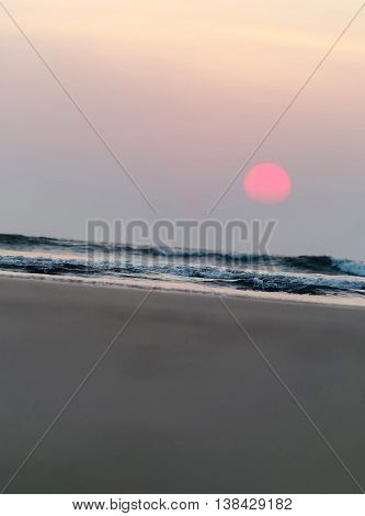 Vertical Vivid Toy Milky Sunset Background Backdrop