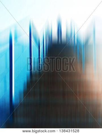Vertical vivid futuristic alien standing on top upstairs abduction abstraction background backdrop