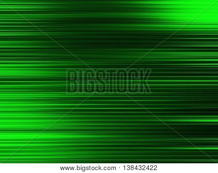 Horizontal Vivid Green Blurred Abstraction Lines Background
