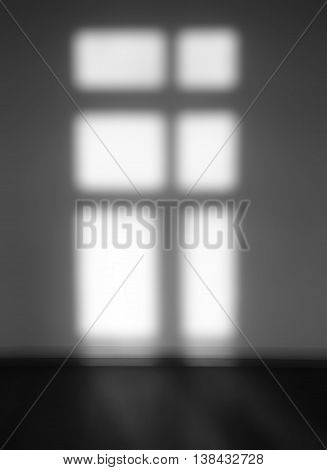 Vertical Black And White Window Light And Shadow Abstraction Bac