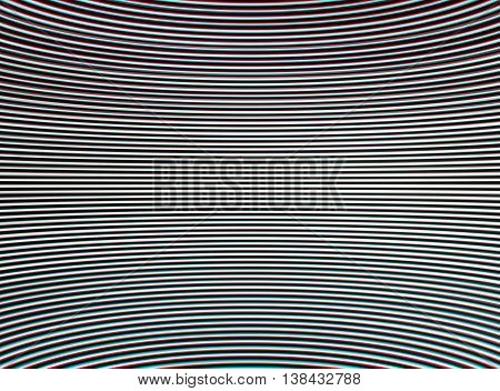 Horizontal Stereo Chroma Interlaced And Curved Tv Lines Abstract