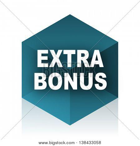 extra bonus blue cube icon, modern design web element