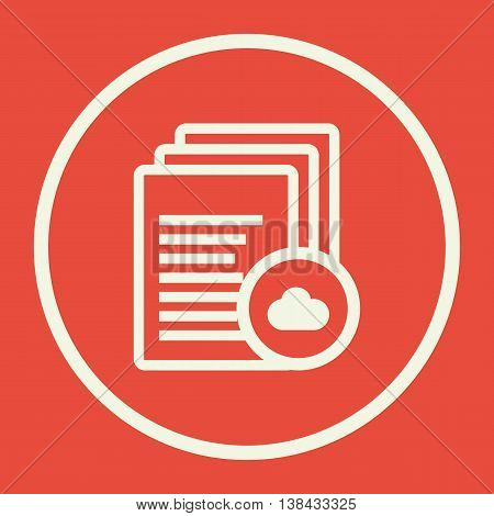 Files Cloud Icon In Vector Format. Premium Quality Files Cloud Symbol. Web Graphic Files Cloud Sign