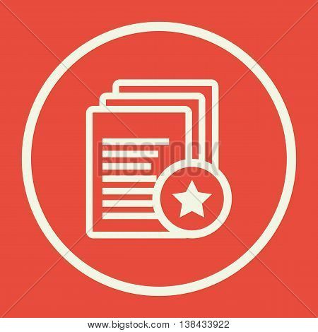 Files Star Icon In Vector Format. Premium Quality Files Star Symbol. Web Graphic Files Star Sign On