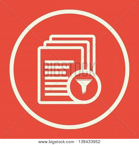 Files Filter Icon In Vector Format. Premium Quality Files Filter Symbol. Web Graphic Files Filter Si