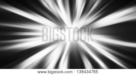 Horizontal Black And White Blast Abstraction Background