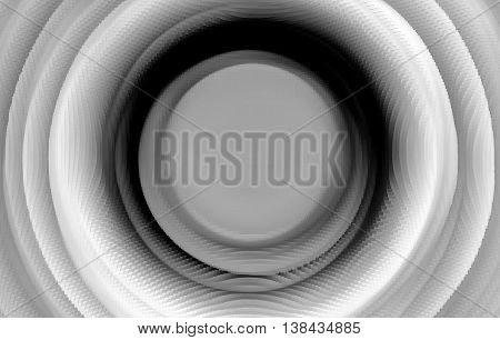 Extruded Black And White 3D Extruded Swirl Teleport Background