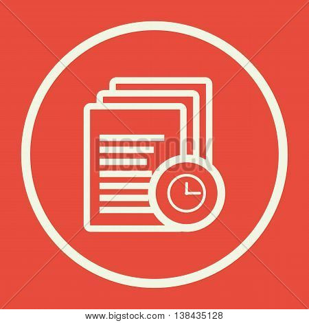 Files Time Icon In Vector Format. Premium Quality Files Time Symbol. Web Graphic Files Time Sign On