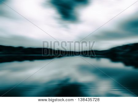 Horizontal aqua sepia landscape motion abstraction background backdrop