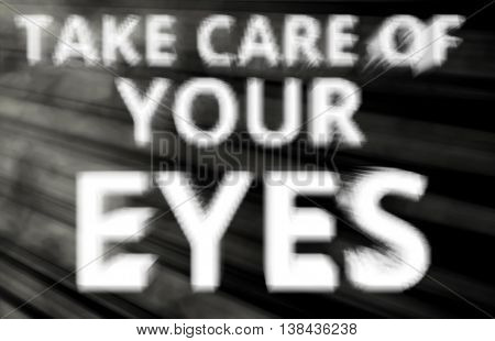 Take Care Of Your Eyes Blurred Light Leak Background