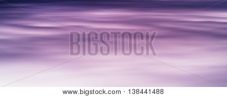 Horizontal Vivid Purple Smooth Sky Fleecy Clouds Cloudscape Back