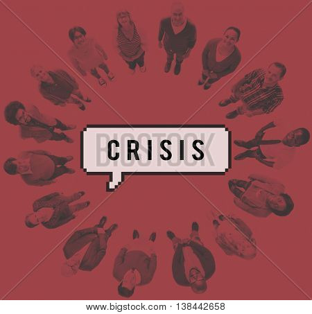 Crisis Loss Recession Catastrophe Risk Turning Point Concept
