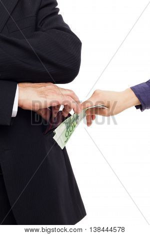 Official Man Receives A Bribe In Secret