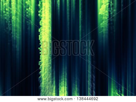 Vertical Vivid Green Cube Pixel Curtains Business Abstraction Ba