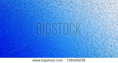 Horizontal Blue White Gradient Cubes Business Presentation Abstr