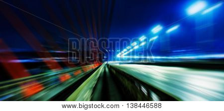 Horizontal Wide Vivid Left Aligned Higway Business Motion Abstra