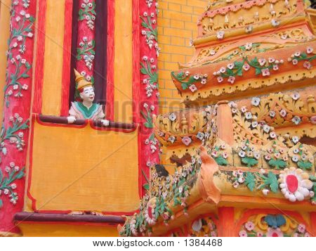 Details Of Person And Stupa Of The Paya Thanboddhay, Monywa And Shwebo, Myanmar