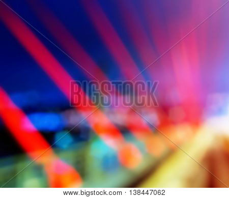 Horizontal Vivid Bridge Blurred Bokeh Abstraction Background