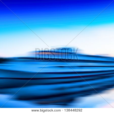 Horizontal vivid vibrant moving ship boat motion abstraction background backdrop