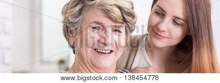 Portrait Of Smiling Older Lady