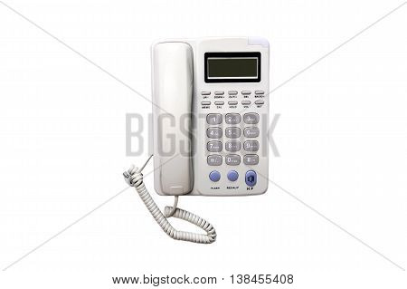 Office phone isolated on white backgroundClose up Office phone clipping path